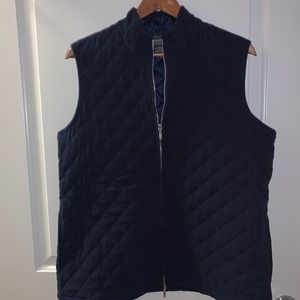 Dark navy blue quilted vest